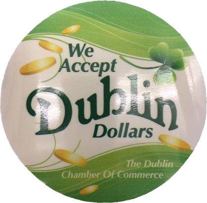 Dublin Dollar Decal